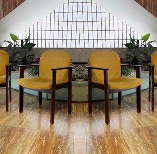 4 sillas vintage en madera de teca