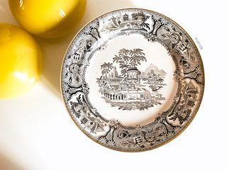 6 platos llanos de cerámica de San Claudio