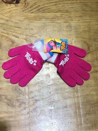 Nuevo talla 2-3 años guantes Trolls bebé niña