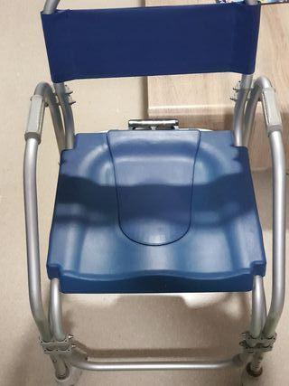 silla de ruedas con wc