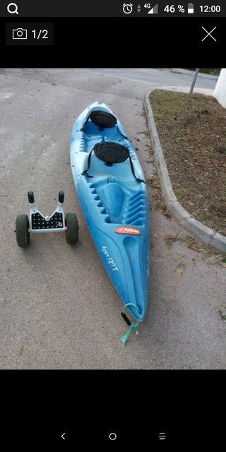 kayak doble y regalo carrito