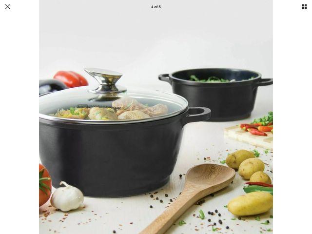 Royal Cuisine 10Pcs Die-Cast Cookware Set: