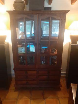 armario vitrina rustica