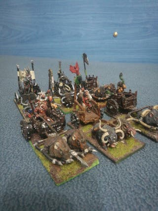 6 carros hombres bestia warhammer