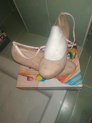 zapato rosa nude mujer