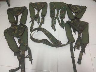 Correaje cincha militar verde