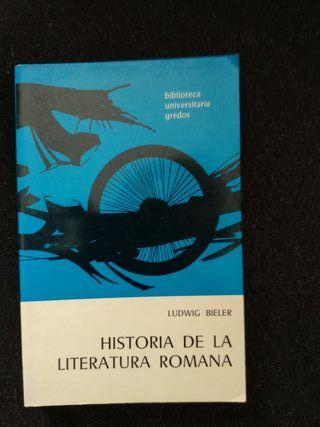 Libro literatura romana