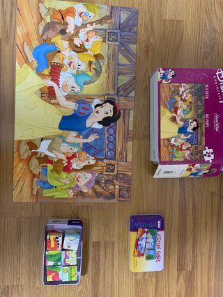 Lote de dos puzzles+lote cuentos