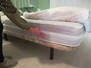 colchón viscoelastico y somier 150cm