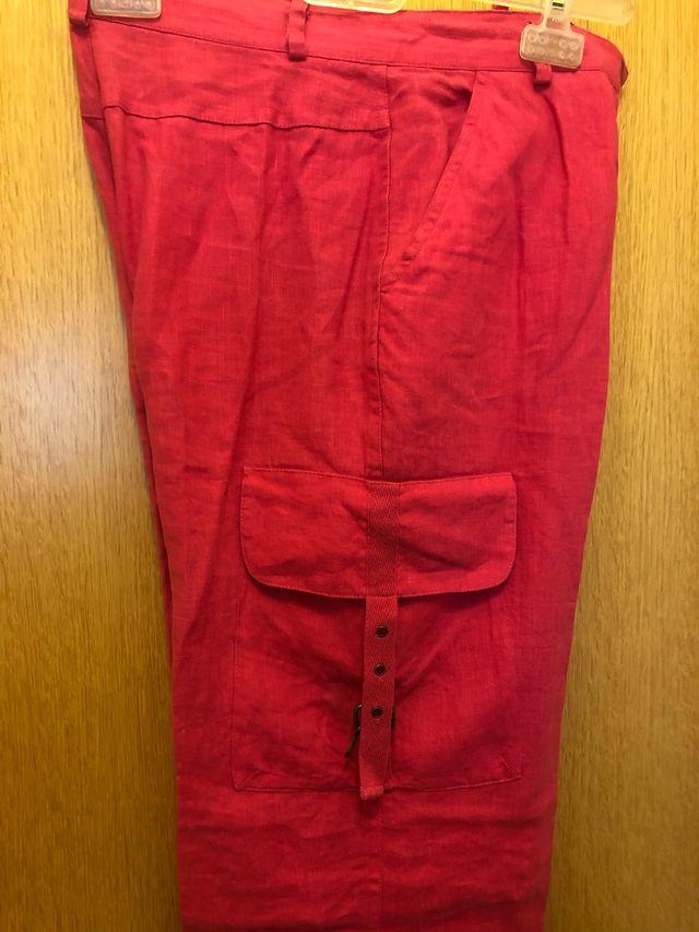 Pantalón de Lino Cortefiel Talla 38