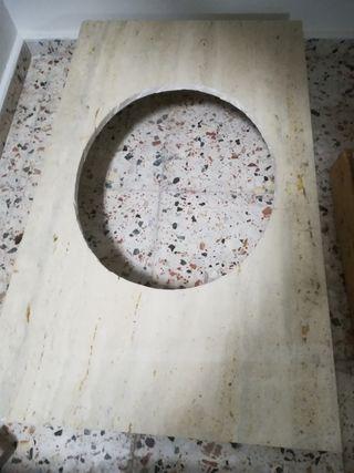 Encimera para lavabo de mármol travertino