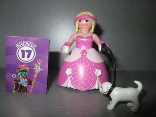 Playmobil. Dama con Perrito. Serie 17.