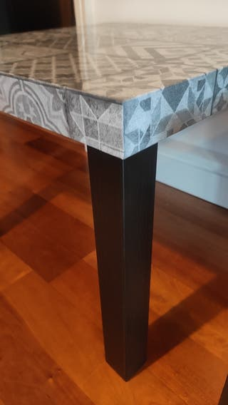 set 2 side tables customised with vinyl