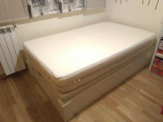 Canape + Colchon Viscoelástico 120 cm x 200 cm