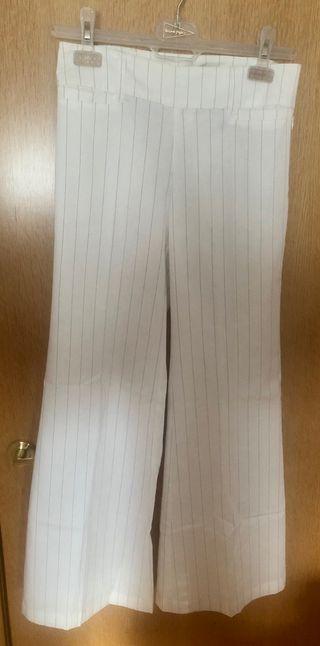 Pantalón blanco con rayas Liberto Talla 26