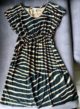 Vestido premama embarazada print animal talla M