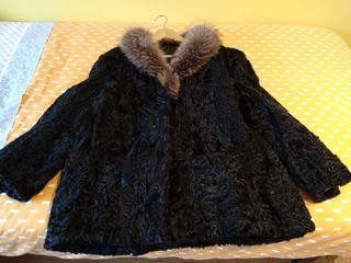 Abrigo de piel de chinchilla.