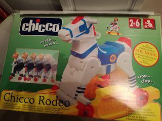 Juguete vintage: Balancín electrónico chicco rodeo