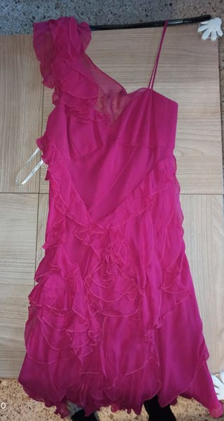 vestido de fiesta fusia