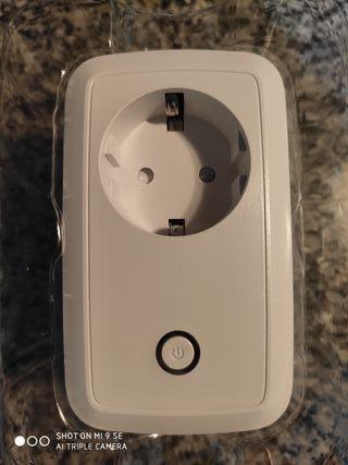 conector WLAN inteligente con monitorizaci/ón y temporizador de energ/ía blanco aplicaci/ón iOS y Android gratuita Weconn S171 Smart Socket