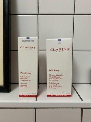 Clarins Pure exfoliante y mascarilla