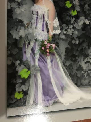 Vestido de novia, de María Alegre