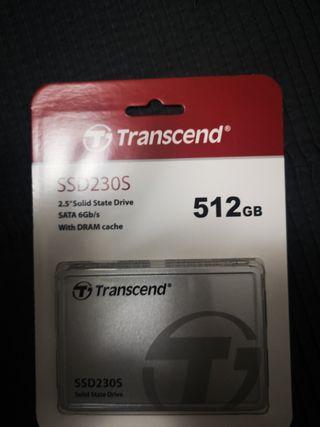 Disco duro SSD 512gb transcend, nuevo