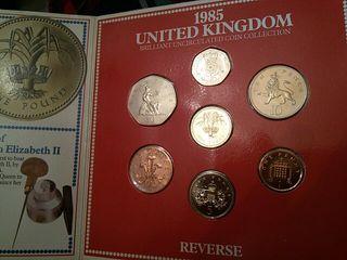 colección de monedas inglesas