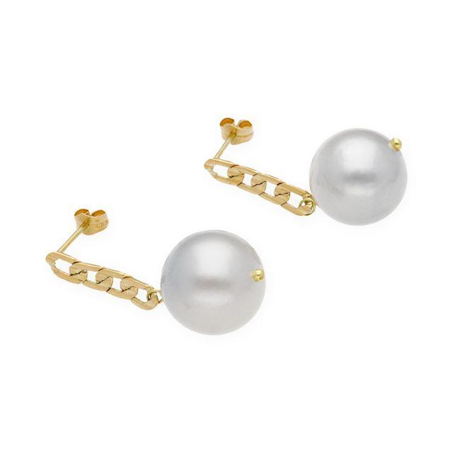 Pendientes Oro Amarillo Con Perlas Australianas