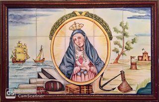 Reproducción escudo Isla Cristina 1818 cerámica