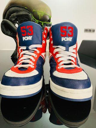 Zapatillas basket Pony estilo Retro/ de piel