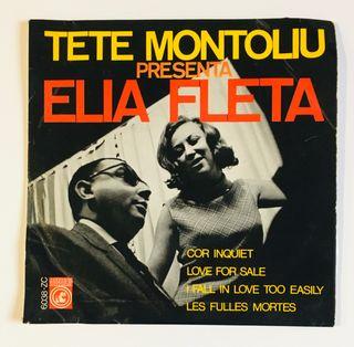 TETE MONTOLIU presenta ELIA FLETA Disco Vinilo EP