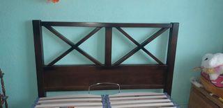 Canape y cabecero madera maciza 1,35