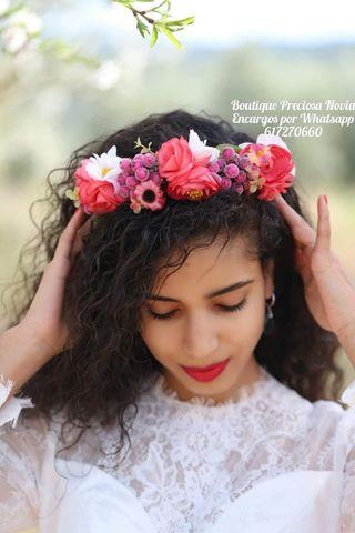 Oferta ! Diadema niña comunión tiara corona flores
