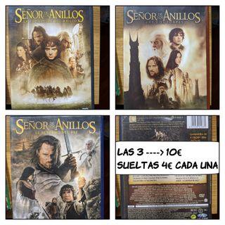 DVDs películas trilogía el señor de los anillos