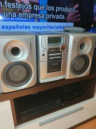 mini cadena radio - cassette PHILIPS
