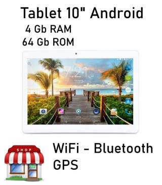 "Tablet 10"" Android 4Gb Ram 64Gb Rom"