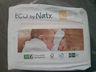 talla 0 color blanco Naty Eco capa ecol/ógico para beb/é prematuro//reci/én nacido 4 unidades 4,5 kg