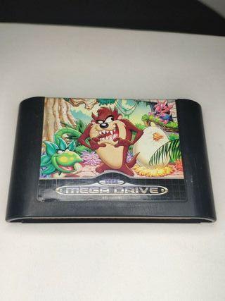 juego taz manía de consola Sega mega Drive