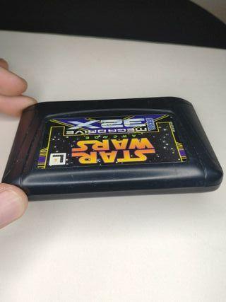 juego star wars de consola sega mega Drive 32x