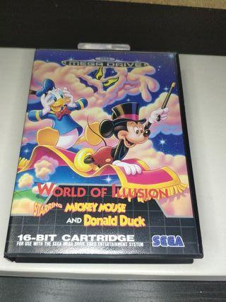 juego Mickey mouse de consola sega mega Drive