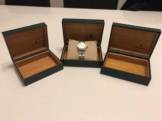 Caja de reloj rolex original suiza vintage