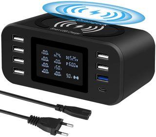 Estación de Carga USB Cargador con 8 Puertos NUEVO