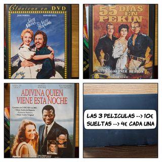 3 peliculas clásicas en dvd