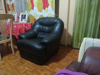 sillón sofá piel