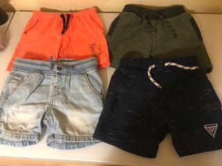 4 pantalones cortos y dos bañadores talla 12/18