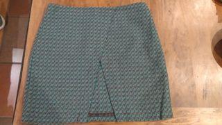 Falda estampada Trucco tono agua y marrón