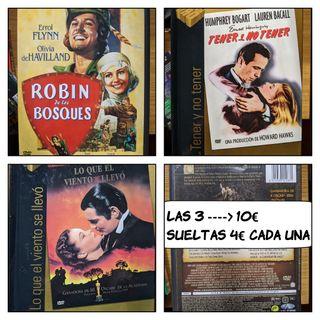 3 películas clásicas en DVD