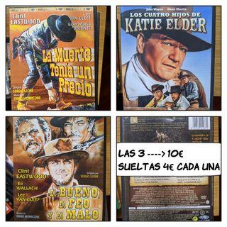 3 películas del oeste en DVD