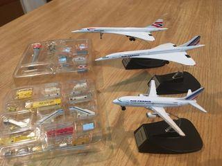 3 aviones.2 Concorde y 1 Airbus A310